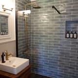 Deluxe dubbelrum - privat badrum - utsikt mot trädgården (Saffron) - Badrum
