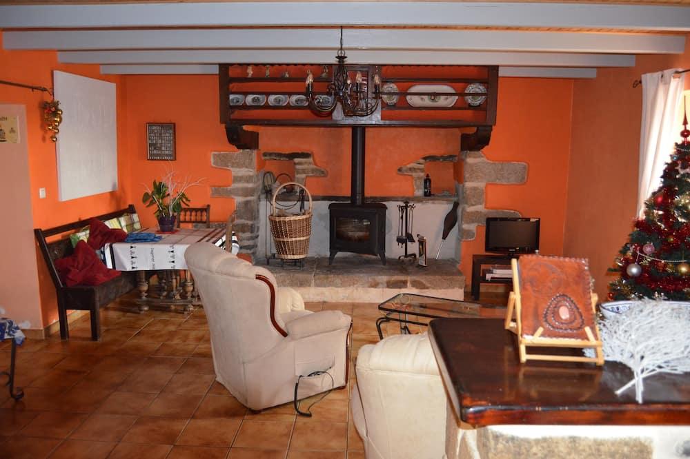 Traditional-Doppelzimmer (Breizh 1) - Wohnzimmer