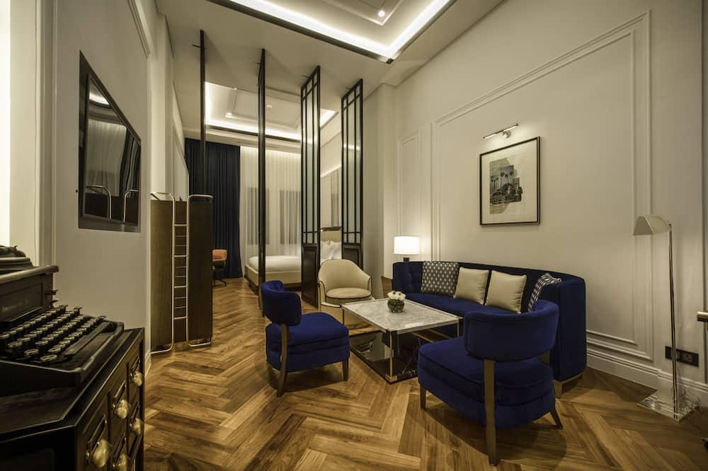 Deluxe Oda, 1 En Büyük (King) Boy Yatak, Şehir Manzaralı - Oturma Alanı