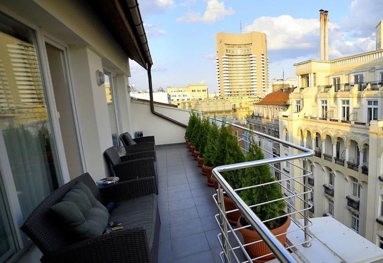 布庫爾住宿旅館, 布加勒斯特, Superior Suite with Terrace (Including smoking area), 陽台