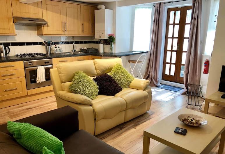 Montauban House Apartments, Manchester, Apartmán, 2 ložnice, Obývací pokoj