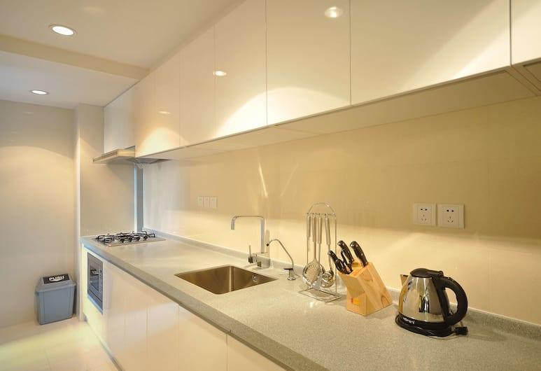 上海宸居服務公寓, 上海市, 標準大床房, 私人廚房