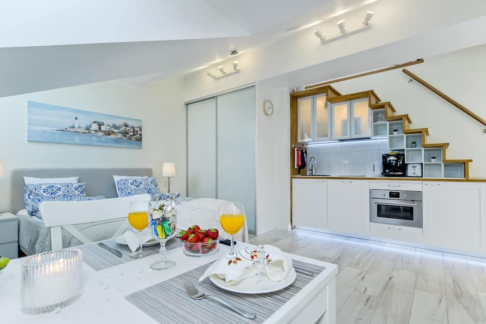 Dizajnový loftový byt (B) - Obývačka
