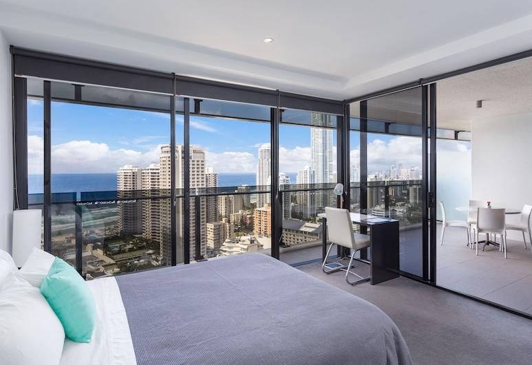 Sealuxe - Central Surfer Paradise Seaview Deluxe Spa Apartment, Surfers Paradise, Apartamento de lujo, 2 habitaciones, no fumadores, Habitación