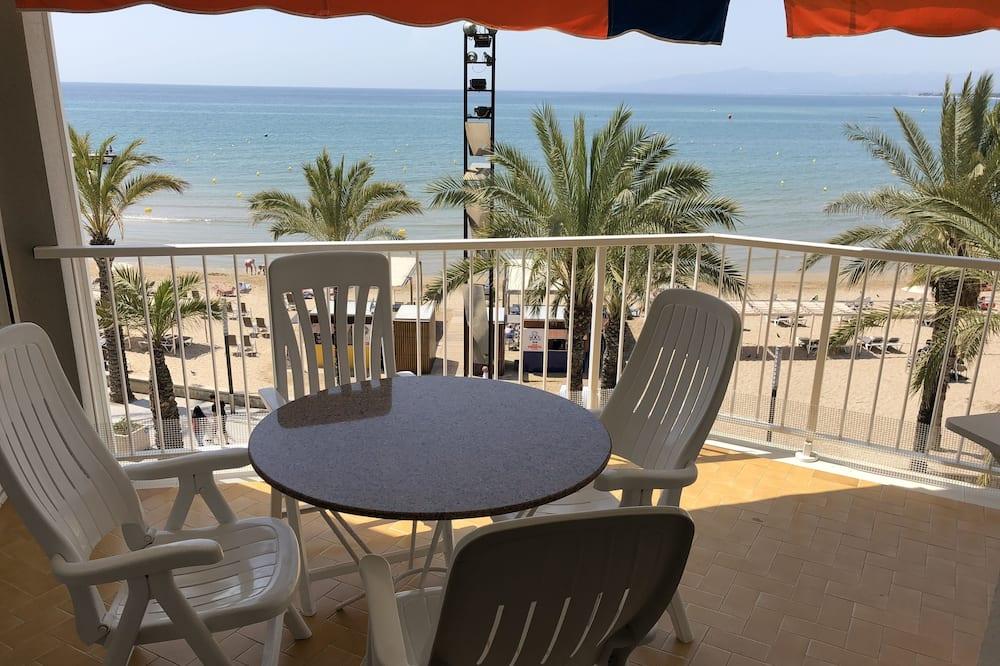 Apartmán, 3 spálne, výhľad na pláž - Balkón