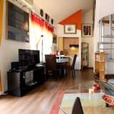Appartamento City, 1 letto matrimoniale con divano letto, terrazzo, vista città - Soggiorno