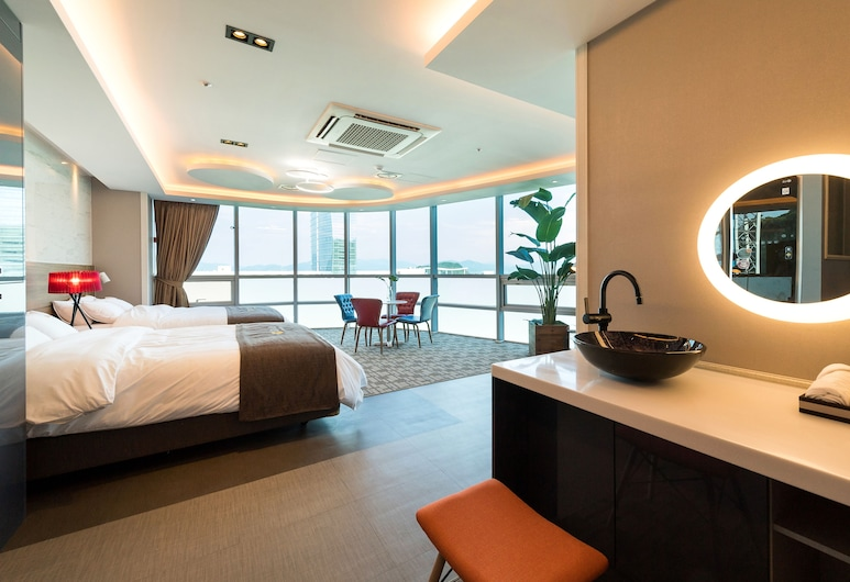 Odongdo Hotel, Yeosu, Apartmán (Twin Room), Hosťovská izba