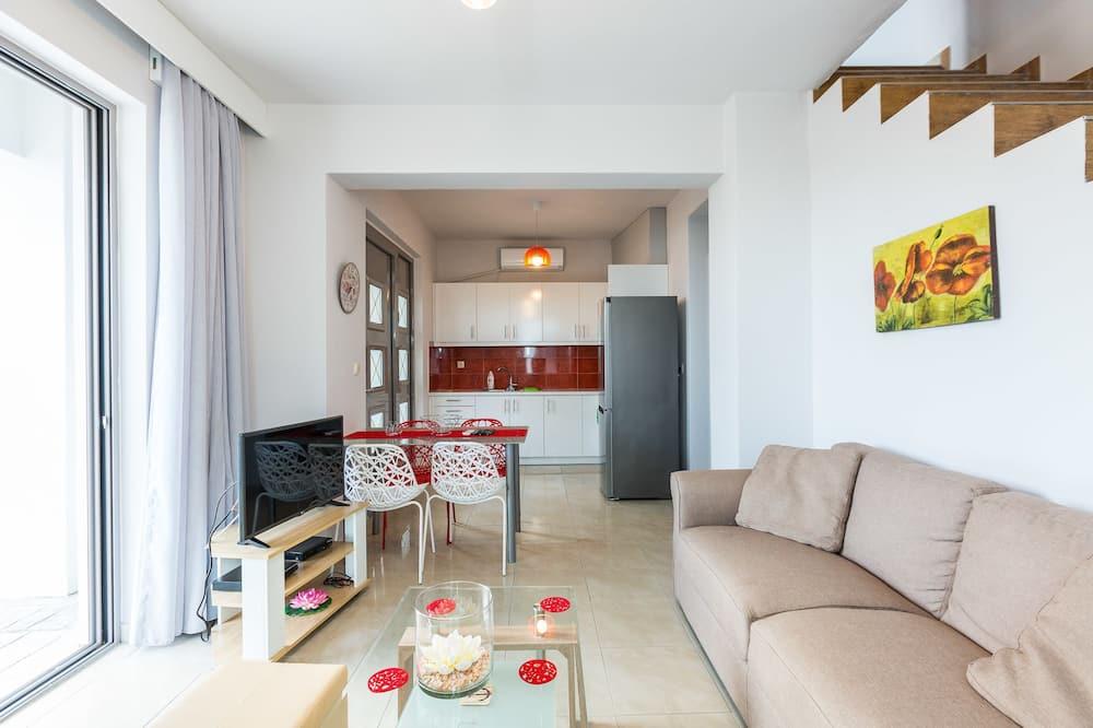 Dúplex, 2 habitaciones, vistas al mar - Sala de estar