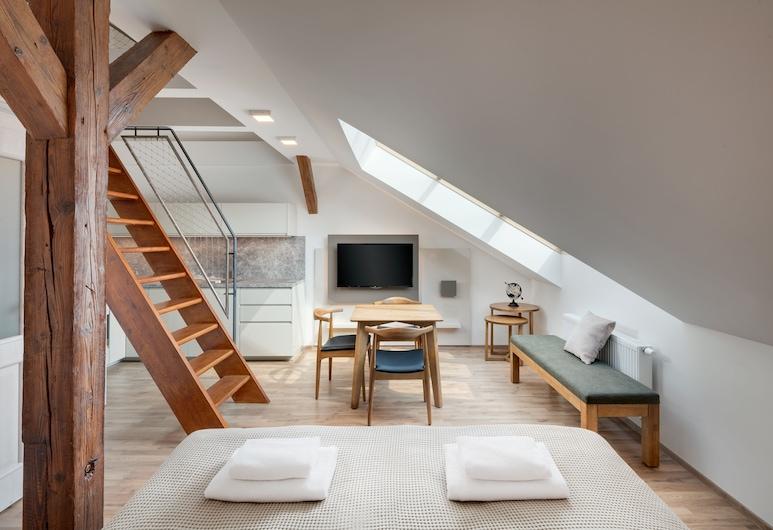 Louren Apartments, Prag, Deluxe Stüdyo, Oda