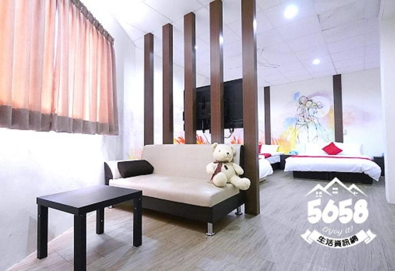 逢甲米奇屋 - 福星館, 台中市, 舒適客房, 多張床, 客房