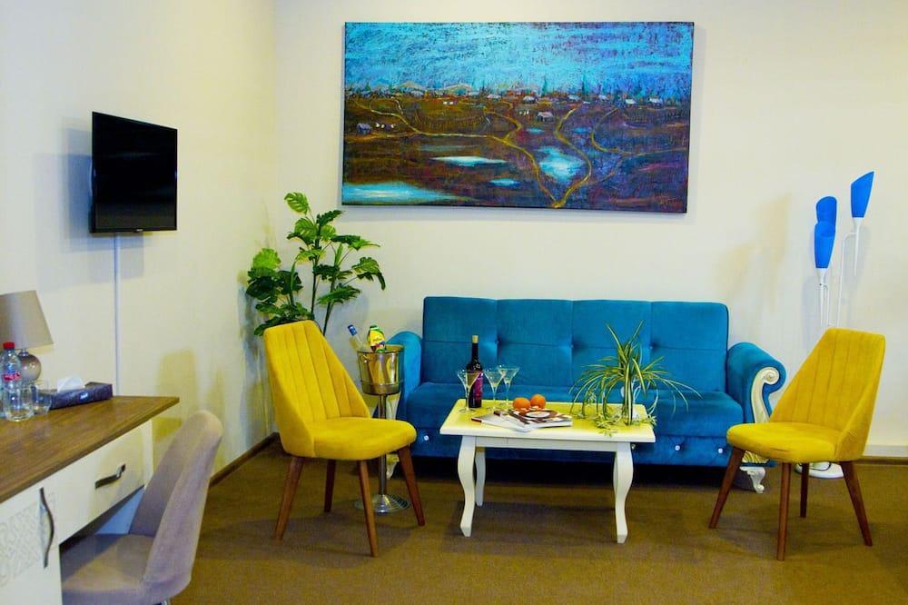 普通套房, 1 間臥室, 吸煙房, 花園景 - 客廳