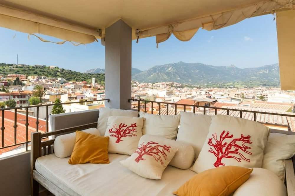 Leilighet – basic, 2 soverom, utsikt mot byen, tårn - Terrasse/veranda