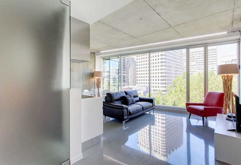 Bijoux Square Apartments, Montreal, Apartment, 1 Queen Bed, Living Area