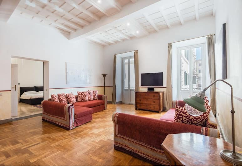 Farnese Stylish Apartment, Rome, Appartement (2 Bedrooms), Woonruimte