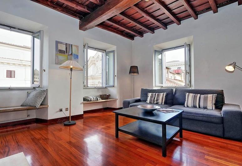 法納斯優雅公寓酒店, 羅馬, 單棟房屋, 多張床, 庭園景 (Farnese Elegant Apartment), 客廳