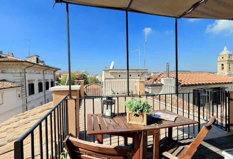 Arancio Terrace Loft, Rome, Ház, 1 kétszemélyes ágy, kilátással a városra (Arancio Terrace Loft), Erkély