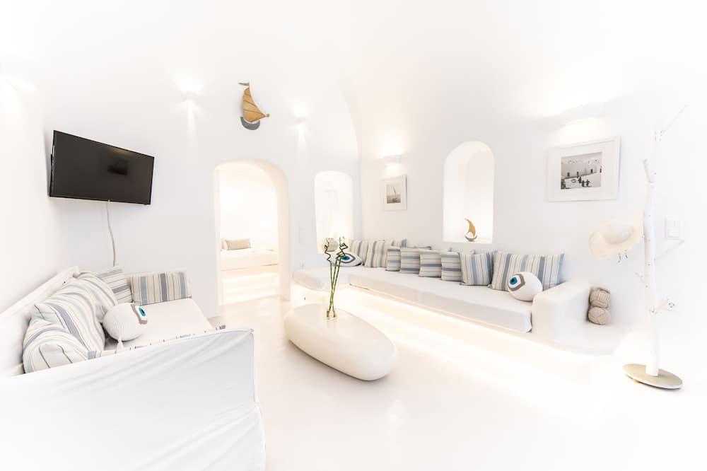 Tradiční domek, 2 ložnice, vířivka, výhled na oceán - Obývací prostor