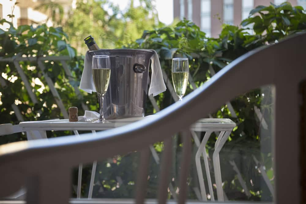 Kamar Double atau Twin, teras, pemandangan kebun - Balkon
