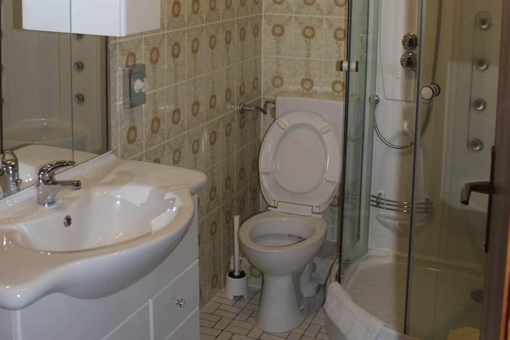 Dobbeltværelse til 1 person - 1 queensize-seng - Badeværelse