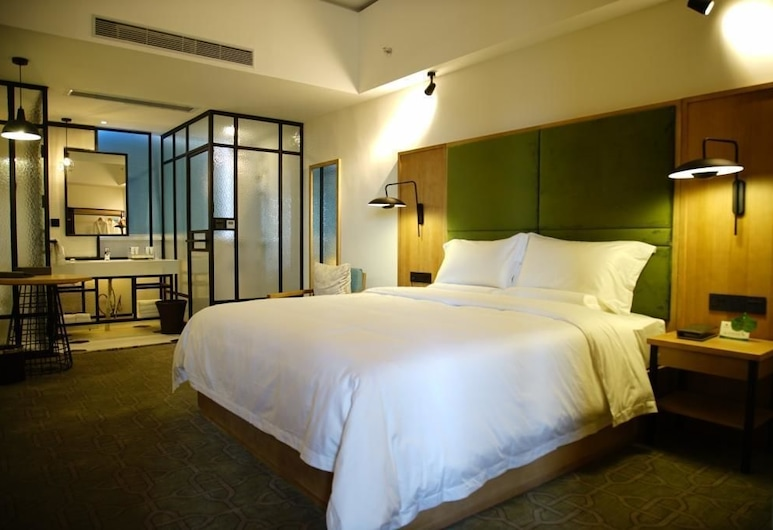 One Flight Apartment Bao'an Branch, Shenzhen, Deluxe Double Room, Guest Room
