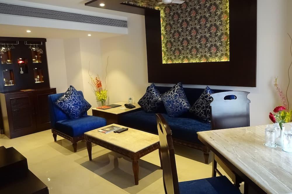 Familie suite, 1 queensize bed - Woonruimte