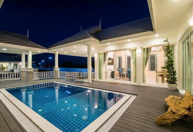 班華欣蘇克榮格酒店, Hua Hin, Three Bedrooms Private Pool Villa (A10), 陽台