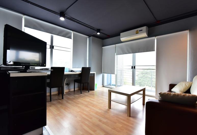 Big Tree Residence Suvarnabhumi, Bang Phli, One-Bedroom Apartment, Zona de estar