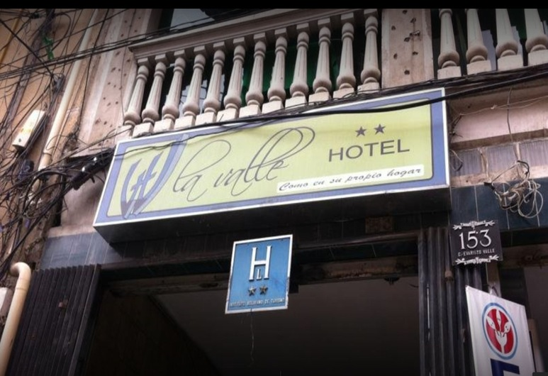 La Valle Hotel, La Paz, Fachada del hotel