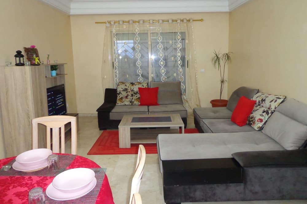 Apartament rodzinny typu Penthouse, 2 sypialnie, przystosowanie dla niepełnosprawnych, dla palących - Powierzchnia mieszkalna