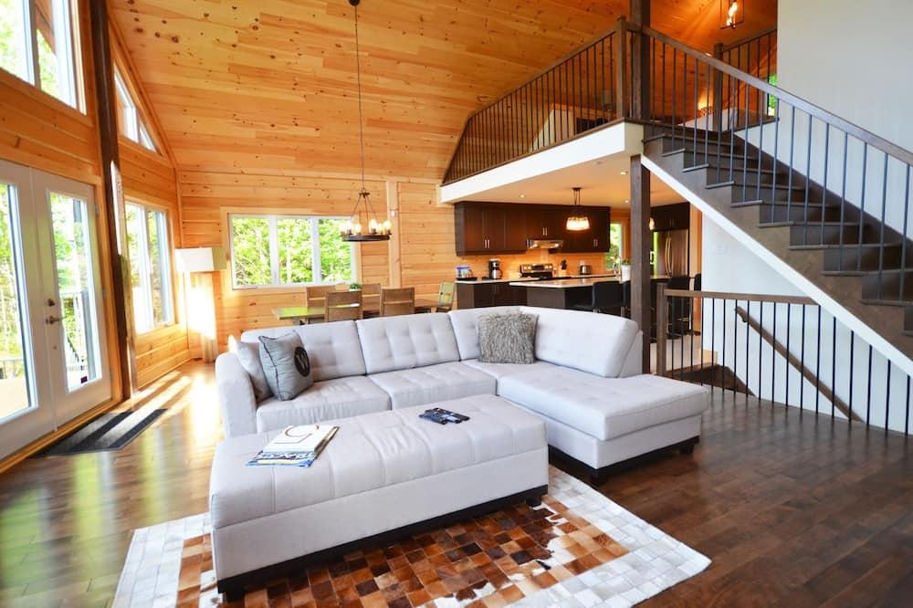 Chalet, 3 habitaciones, junto al lago - Sala de estar