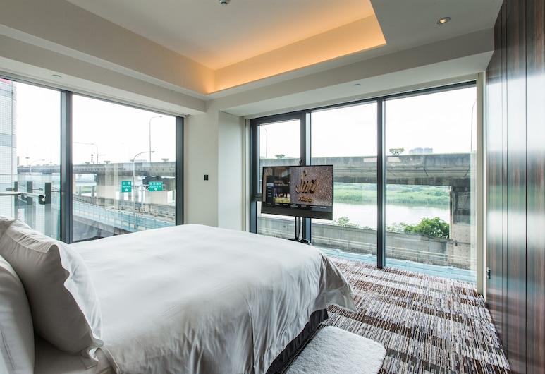 Suz & Catorze Hotel, Taipei, Pokoj Deluxe s dvojlůžkem, výhled na řeku, Výhled z pokoje