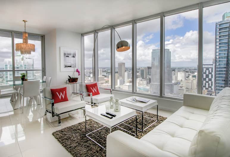 Icon Residences by Flashstay, Miami, Exclusive-Apartment, 2Schlafzimmer, Whirlpool, Meerblick, Zimmer