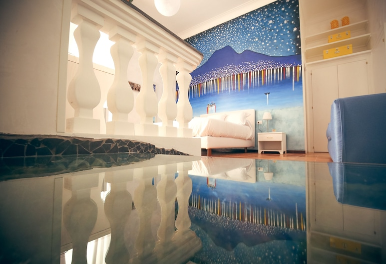 Hotel Napoli Mia, Napoli, Comfort - neljän hengen huone, Vierashuone