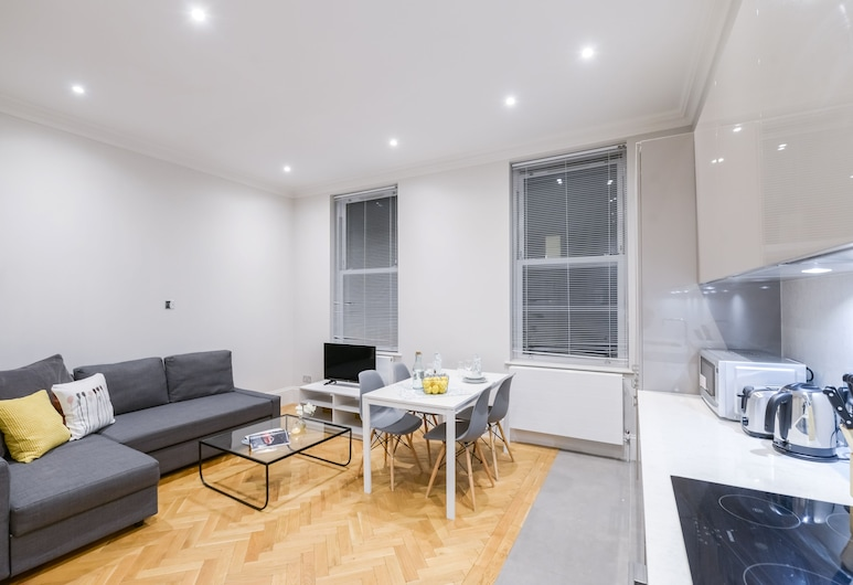 寬敞時尚兩房公寓酒店, 倫敦, 公寓, 2 間臥室, 客廳