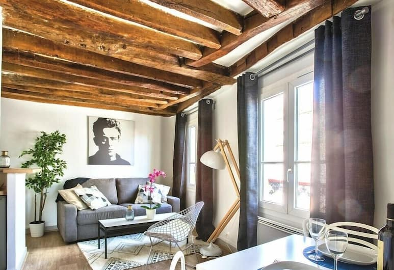 """La Sorbonne"" Amazing Loft, Paris, Lägenhet (1 Bedroom), Vardagsrum"