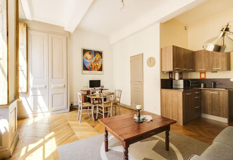 The Bright Vieux-lyon, Lyon, Appartement (1 Bedroom), Woonruimte