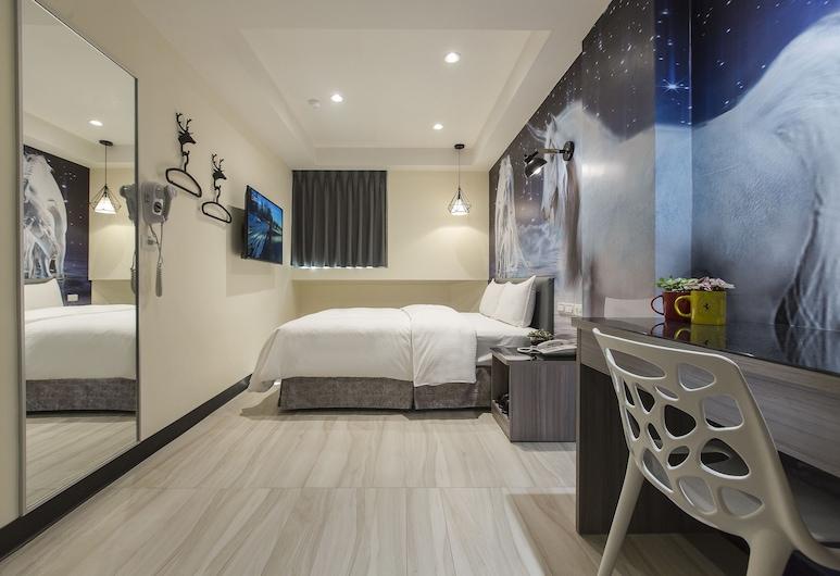 花漾旅館, 桃園市, 商務雙人房, 1 張加大雙人床, 客房