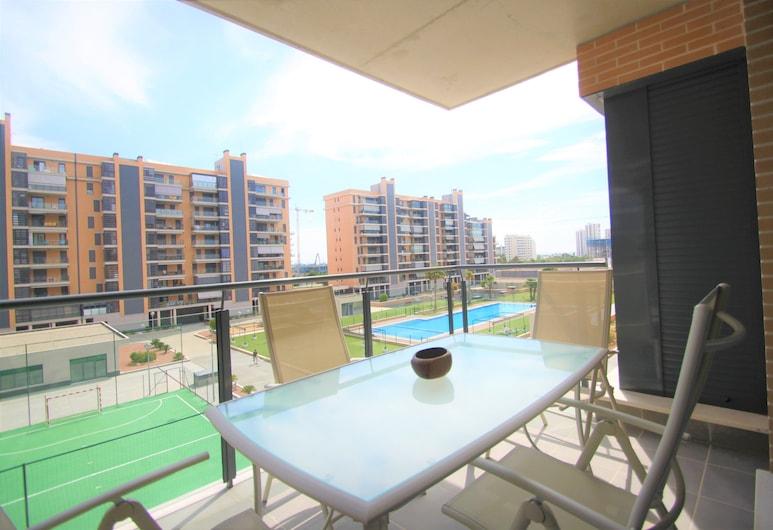 Apt. CasaTuris Residencial San Juan, Alicante, Căn hộ, 3 phòng ngủ, Hiên, Quang cảnh một góc biển, Sân thượng/sân hiên