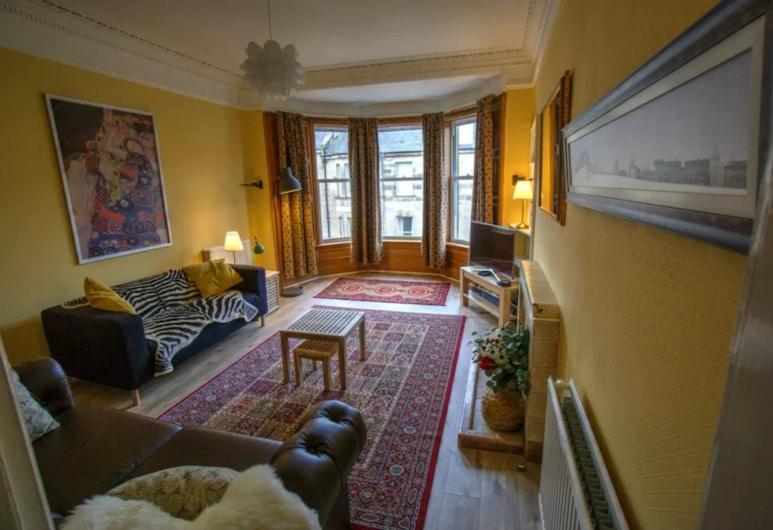 Traditional Edinburgh City Centre Flat, Edinburgh, Apart Daire (2 Bedrooms), Oturma Alanı