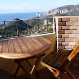 Panoramic Tek Büyük Yataklı Oda, Özel Banyo, Deniz Manzaralı - Balkon