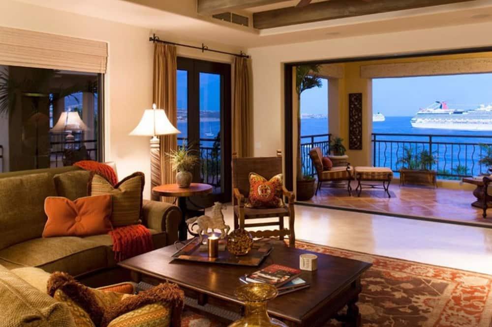 Familie appartement, 3 slaapkamers, uitzicht op zee - Balkon