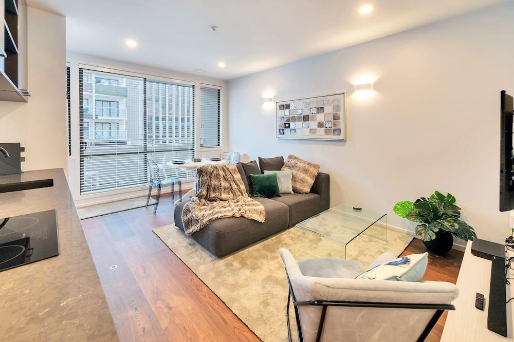 高級公寓, 1 張加大雙人床 - 客廳