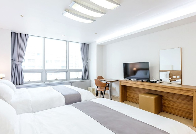Noa Residence Incheon Airport, Incheon, Chambre Deluxe avec lits jumeaux, Chambre