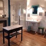 Grand - kolmen hengen huone, 2 makuuhuonetta, Näköala puutarhaan - Kylpyhuone