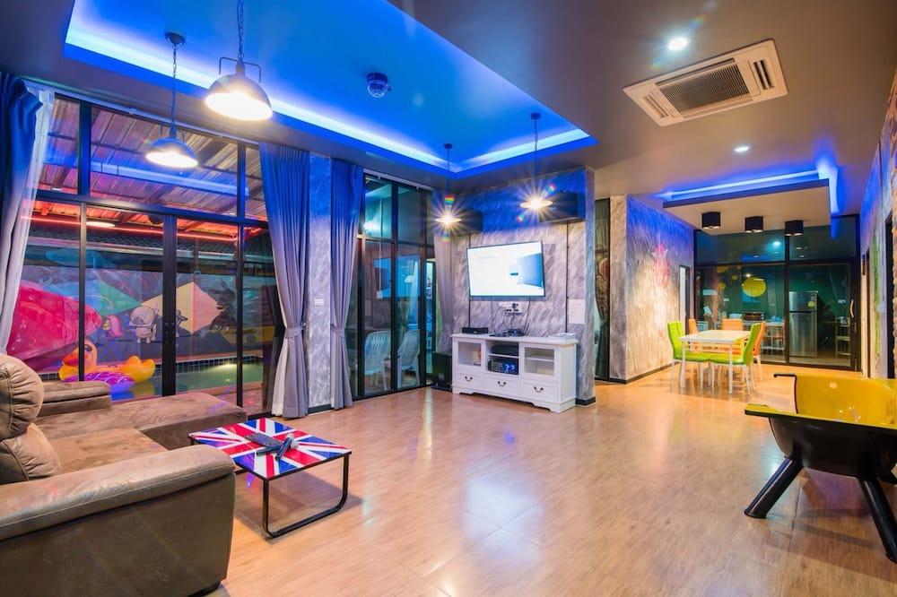 Five Bedrooms - Private Pool Villa - Coin séjour