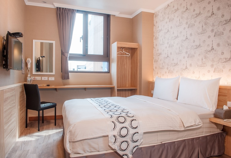 花蓮山水商務旅店, 花蓮市, 高級雙人房, 1 張標準雙人床, 客房