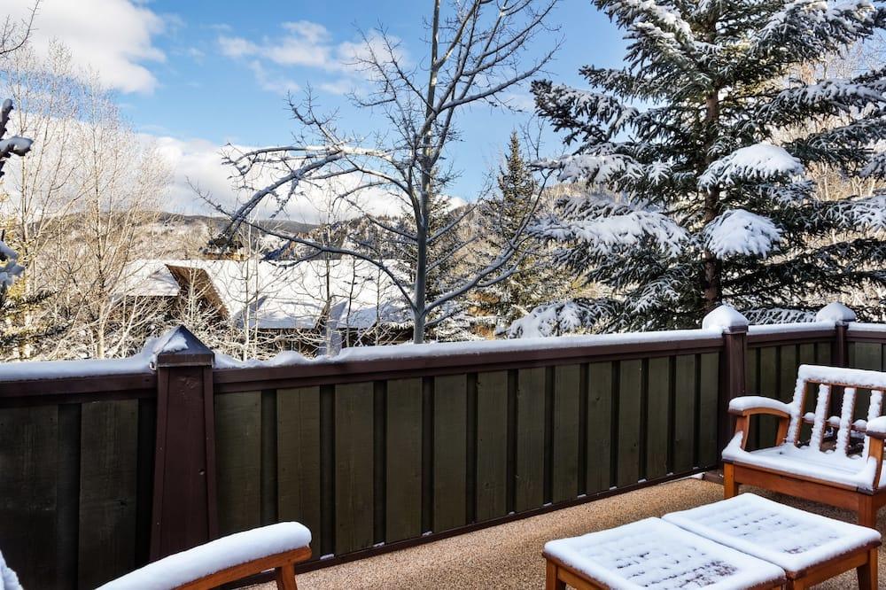 Townhouse Elite, 4 kamar tidur, perapian, pemandangan gunung - Balkon