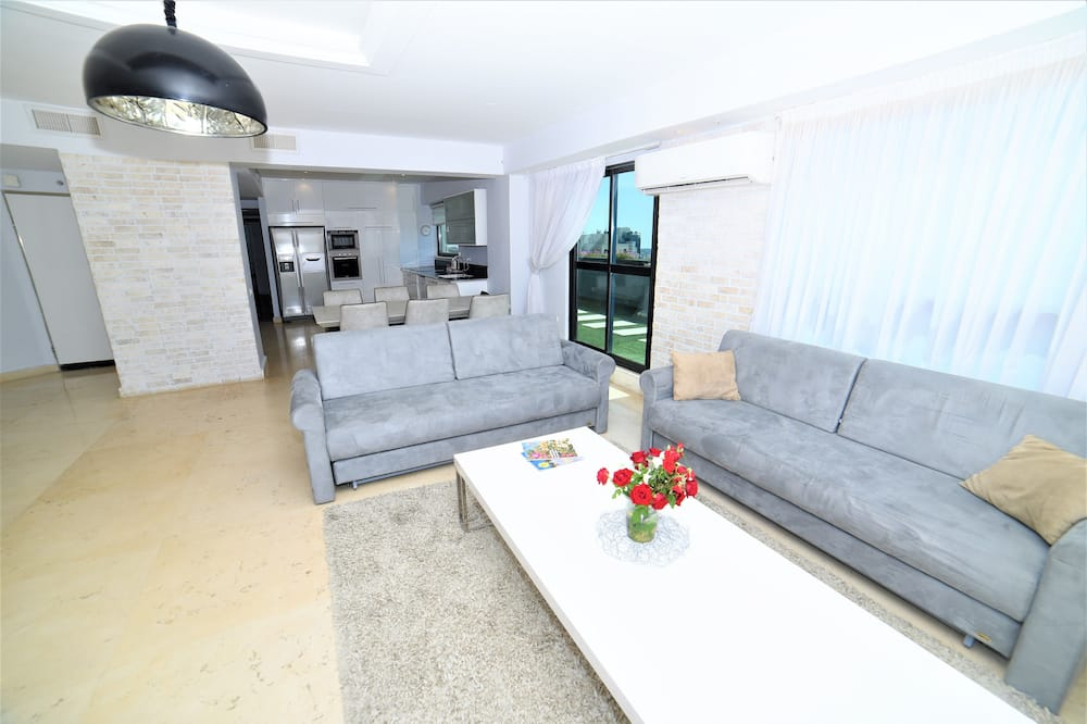 Luxury Penthouse, 2 Bedrooms, Terrace, City View - Living Room