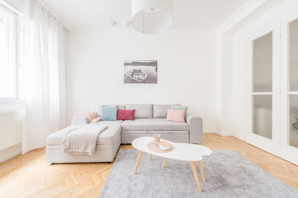 Superior appartement, 2 queensize bedden - Woonkamer