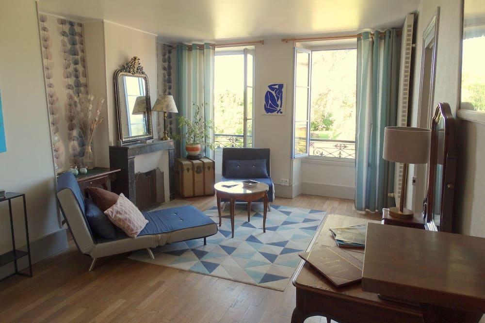 Perhesviitti, 2 makuuhuonetta (Suite Campagne) - Oleskelualue
